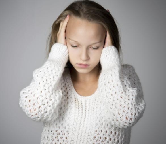 Jeune fille stressée